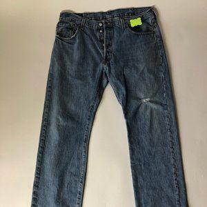 Authentic Levi 501 Button Fly Jeans sz 38 x 32